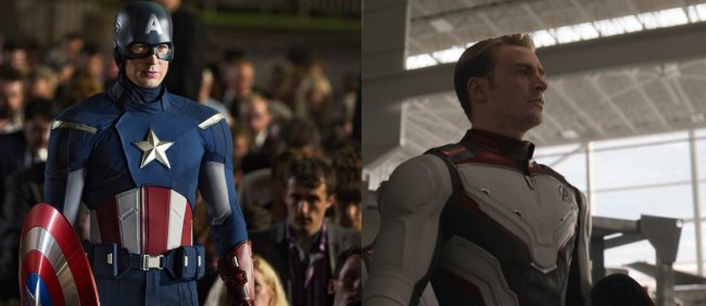 AVENGERS THEN AND NOW: Captain America in MARVEL THE AVENGERS und AVENGERS: ENDGAME.